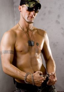 Tatooed Gay Guy With Handcuffs